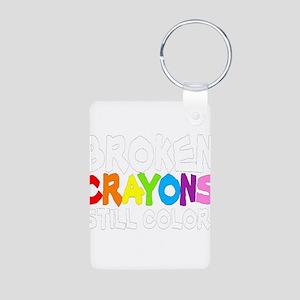 BROKEN CRAYONS STILL COLOR Aluminum Photo Keychain