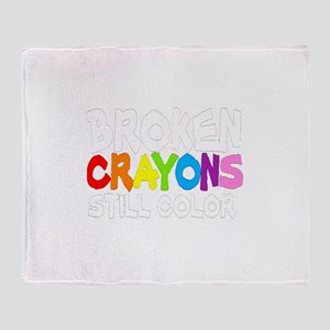 BROKEN CRAYONS STILL COLOR Throw Blanket