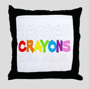BROKEN CRAYONS STILL COLOR Throw Pillow