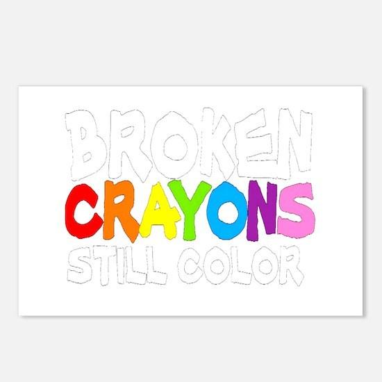 BROKEN CRAYONS STILL COLOR Postcards (Package of 8