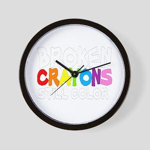 BROKEN CRAYONS STILL COLOR Wall Clock