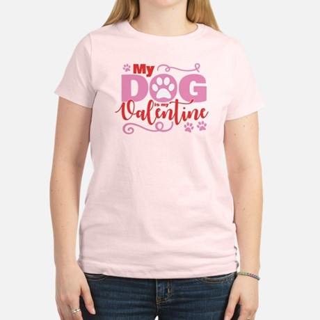 my dog is my valentine womens classic t shirt - Valentine Day Shirts