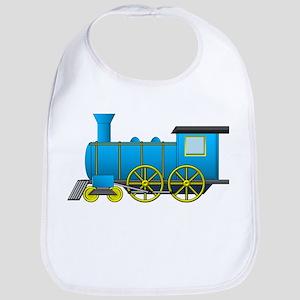 Blue Train Baby Bib
