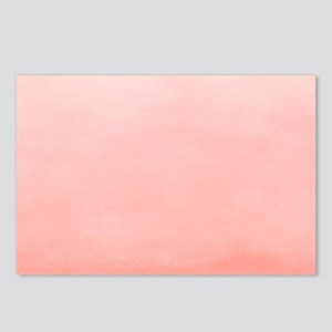 Salmon Pink Ombre Watercolor Postcards (Package of