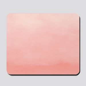 Salmon Pink Ombre Watercolor Mousepad