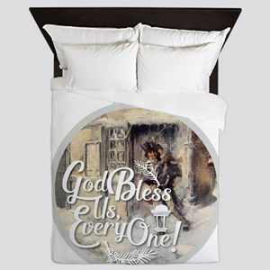 God Bless Us Every One! Queen Duvet