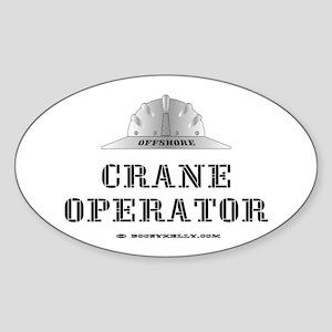 Crane Operator Oval Sticker