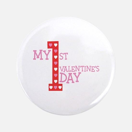 My First Valentine's Day Button