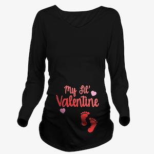 My Lil' Valentine Long Sleeve Maternity T-Shirt