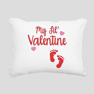 My Lil' Valentine Rectangular Canvas Pillow