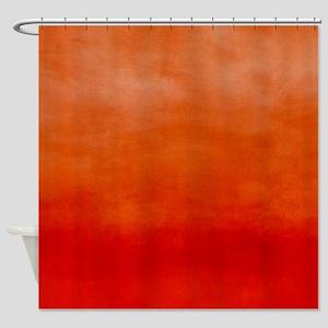 Blaze Ombre Watercolor Shower Curtain