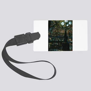 Night in the City Large Luggage Tag