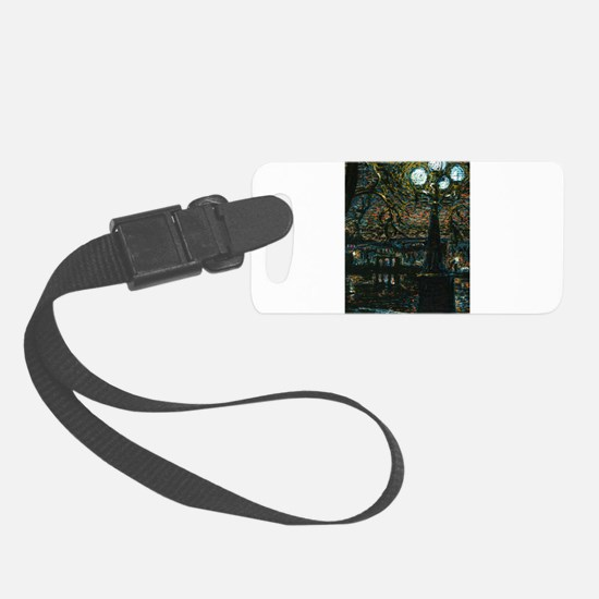 Night in the City Luggage Tag