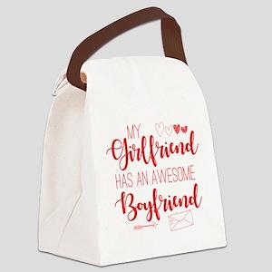 Girlfriend has Awesome Boyfriend Canvas Lunch Bag