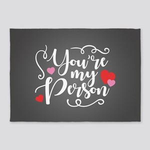 You're My Person 5'x7'Area Rug