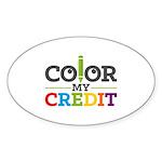 Color My Credit Sticker