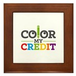 Color My Credit Framed Tile
