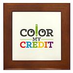 Color My Credit Framed Tile