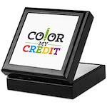 Color My Credit Keepsake Box
