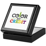 Color My Credit Keepsake Box