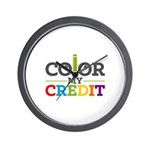 Color My Credit Wall Clock