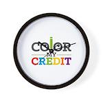 Color My Credit Wall Clock