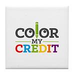 Color My Credit Tile Coaster