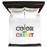 Color My Credit King Duvet