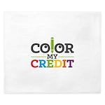 Color My Credit King Duvet