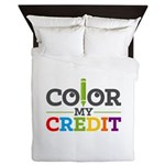 Color My Credit Queen Duvet