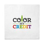 Color My Credit Queen Duvet