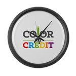 Color My Credit Large Wall Clock