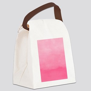 Bubblegum Ombre Watercolor Canvas Lunch Bag