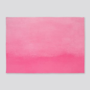 Bubblegum Ombre Watercolor 5'x7'Area Rug