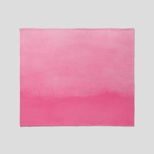 Bubblegum Ombre Watercolor Throw Blanket