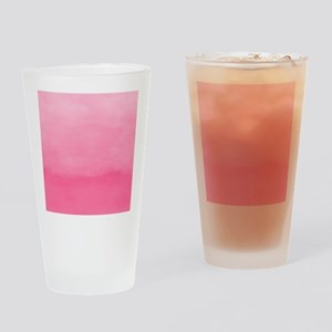 Bubblegum Ombre Watercolor Drinking Glass