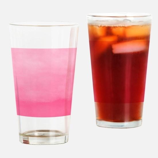 Bubblegum Ombre Watercolor Drinking Glass