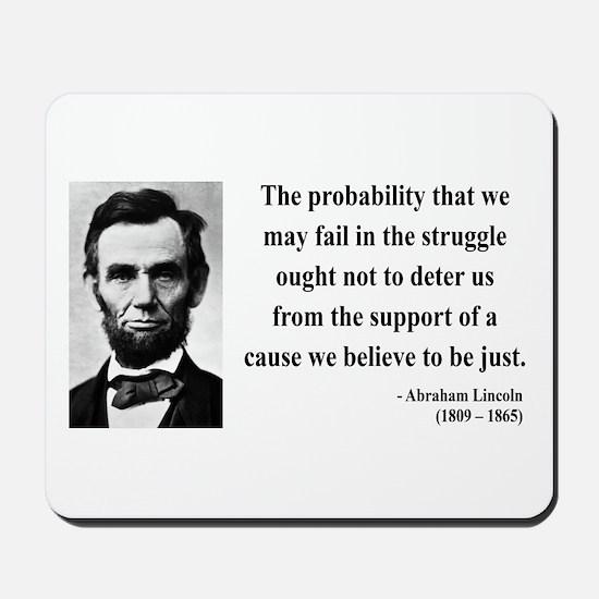 Abraham Lincoln 20 Mousepad