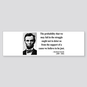 Abraham Lincoln 20 Bumper Sticker