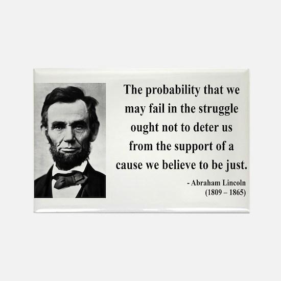 Abraham Lincoln 20 Rectangle Magnet
