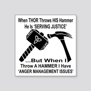 "Anger Management Issues Square Sticker 3"" x 3"""