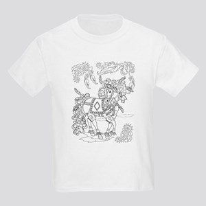 Prancing Feather Horse Design Kid's T-Shirt