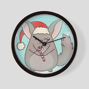 christmas chinchillas Wall Clock