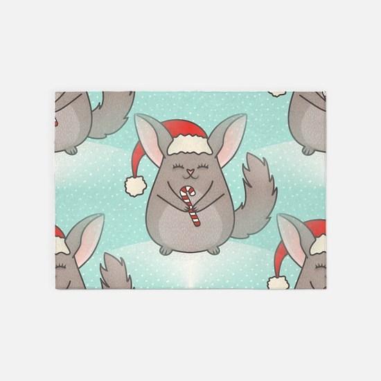 christmas chinchillas 5'x7'Area Rug