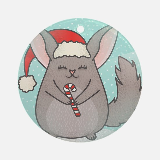 christmas chinchillas Round Ornament