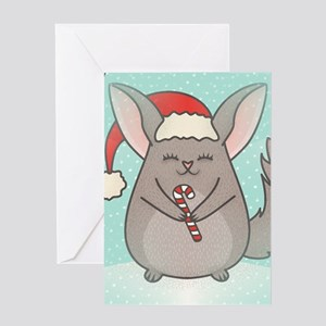 christmas chinchillas Greeting Cards