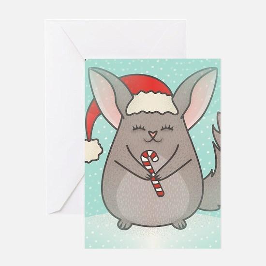 christmas chinchillas Greeting Cards