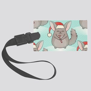 christmas chinchillas Large Luggage Tag