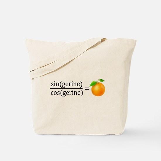 tan(gerine) math Tote Bag