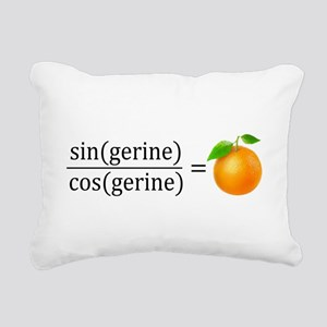 tan(gerine) math Rectangular Canvas Pillow